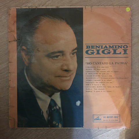 Beniamino Gigli - Ho Cantato La Patria - Vinyl LP Record - Opened  - Good+ Quality (G+) - C-Plan Audio