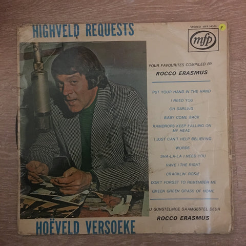 Highveld Requests - Rocco Erasmus - Vinyl LP Record - Opened  - Fair Quality (F) - C-Plan Audio