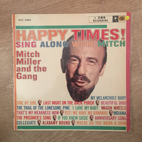Mitch Miller & The Gang ‎– Sing Along With Mitch - Vinyl LP Record - Opened  - Good+ Quality (G+)