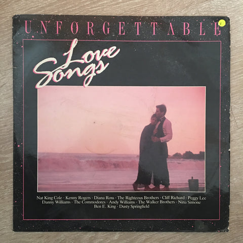 Unforgettable Love Songs - Vinyl LP Record - Opened  - Fair Quality (F)