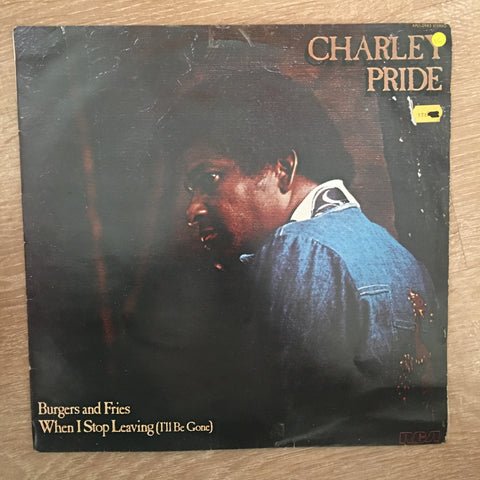 Charley Pride - Burgers and Fries - Vinyl LP Record - Opened  - Very-Good Quality (VG) - C-Plan Audio