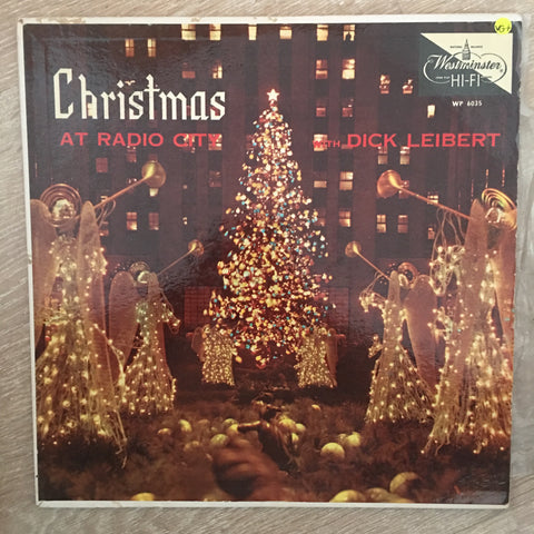 Dick Leibert ‎– Christmas At Radio City  - Vinyl LP Record - Very-Good+ Quality (VG+)