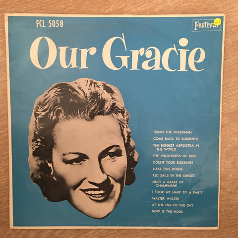 Gracie Fields ‎– Our Gracie  - Vinyl LP Record - Very-Good+ Quality (VG+)