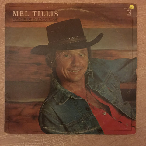 Mel Tillis ‎– Your Body Is An Outlaw - Vinyl LP Record - Opened  - Very-Good+ Quality (VG+)