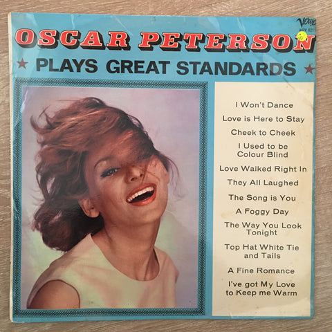 Oscar Peterson Plays Great Standards - Vinyl LP Record - Opened  - Very-Good Quality (VG)
