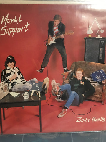 Zionic Bonds - Moral Support - Vinyl LP Record - Opened  - Very-Good+ Quality (VG+) - C-Plan Audio