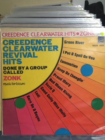 Credence Clearwater Revival Hits - Done By A Group Called The Zonk - Vinyl LP Record - Opened  - Very-Good+ Quality (VG+) - C-Plan Audio