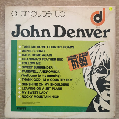 A Tribute To John Denver and Neil Diamond - Double Vinyl LP Record  - Opened  - Very-Good+ Quality (VG+) - C-Plan Audio