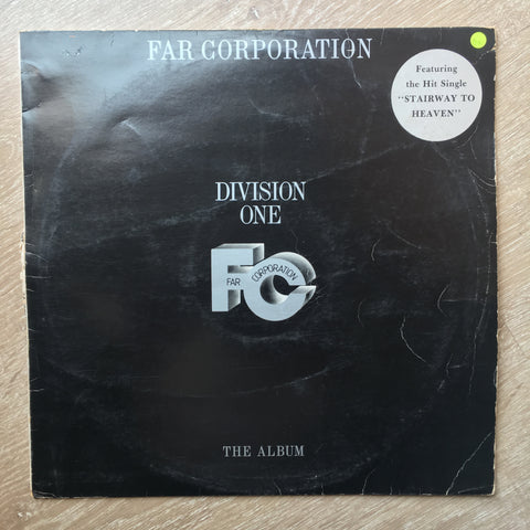 Far Corporation - Division One - Vinyl LP Record - Opened  - Good+ Quality (G+) - C-Plan Audio