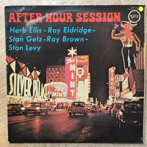 After Hours Session - Herb Ellis, Roy Eldridge, Stan Getz, Ray Brown, Stan Levey - Vinyl LP Record - Opened  - Good Quality (G)