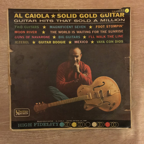 Al Caiola - Solid Gold Guitar Hits that Sold a Million - Vinyl LP Record - Opened  - Good Quality (G)