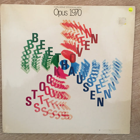Karlheinz Stockhausen ‎– Opus 1970 - Vinyl LP Record - Opened  - Very-Good+ Quality (VG+)
