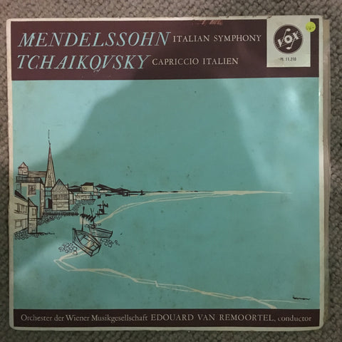 "Mendelssohn / Tchaikovsky - Edouard Van Remoortel ‎– Symphony No. 4 In A Major, Op. 90 ""Italian"" - Capriccio Italien, Op. 45 - Vinyl LP Record - Opened  - Very-Good- Quality (VG-) - C-Plan Audio"