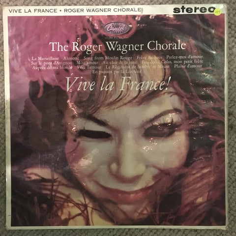 The Roger Wagner Chorale ‎– Vive La France - Vinyl LP Record  - Opened  - Very-Good+ Quality (VG+) - C-Plan Audio