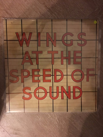 Wings - At the Speed of Sound - Vinyl LP - Opened  - Very-Good Quality (VG)