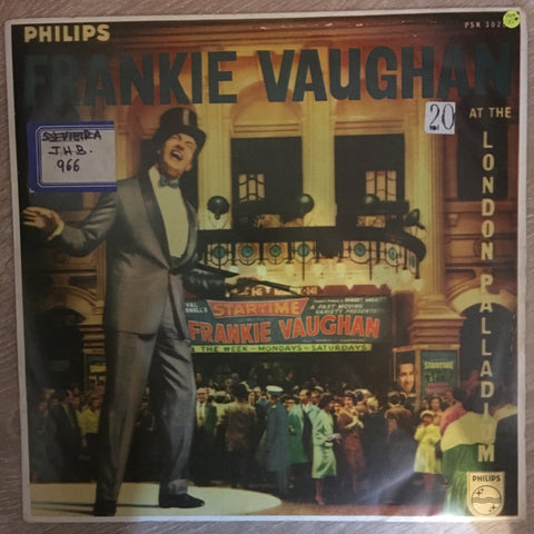 Frankie Vaughan ‎– At The London Palladium - Vinyl LP Record  - Opened  - Very-Good+ Quality (VG+) - C-Plan Audio