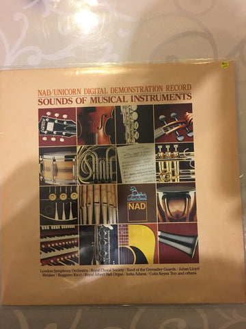 NAD/Unicorn Digital Demonstration Record - Sounds of Musical Instruments   - Vinyl LP - Opened  - Very-Good+ Quality (VG+) - C-Plan Audio