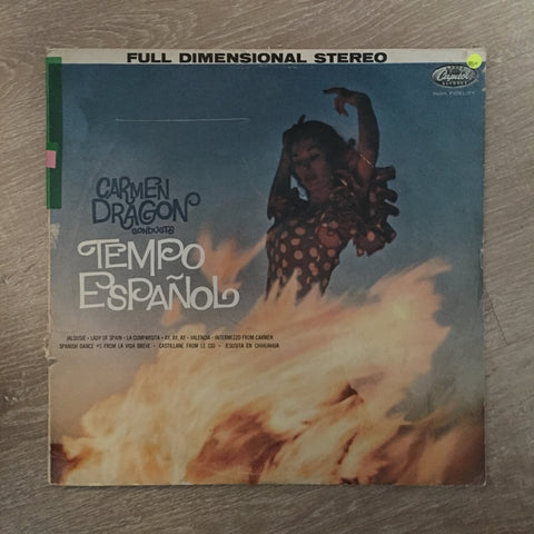 Carmen Dragon ‎– Tempo Espanol - Vinyl LP Record - Opened  - Very-Good Quality (VG)