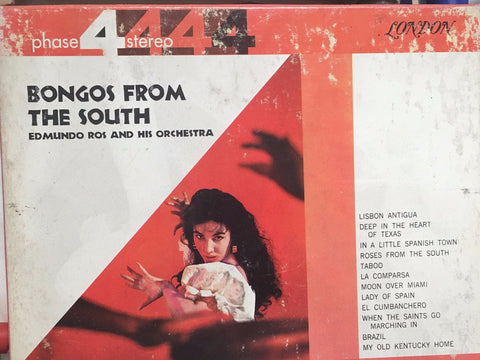 Edmundo Ross and his Orchestra - Bongos from the South - Phase 4 Stereo - 4 Track Original Reel To Reel Tape - LPL 74003