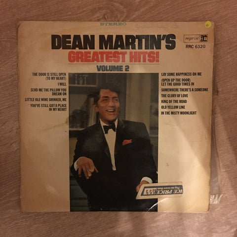 Dean Martin's Greatest Hits Volume 2 - Vinyl LP Record - Opened  - Very-Good Quality (VG)