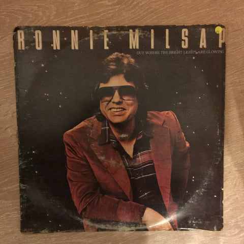 Ronnie Milsap - Out Where The Light Brights Are Glowing - Vinyl LP Record - Opened  - Very-Good Quality (VG)