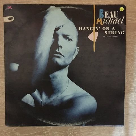 Beau Michael ‎– Hangin' On A String ‎- Vinyl LP Record - Opened  - Very-Good+ Quality (VG+)