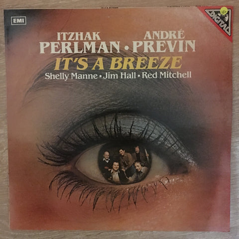 Itzhak Perlman, André Previn, Shelly Manne, Jim Hall, Red Mitchell ‎– It's A Breeze ‎- Vinyl LP Record - Opened  - Very-Good+ Quality (VG+)