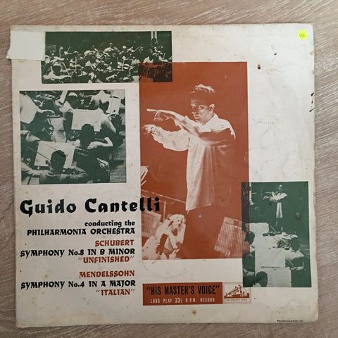 Guido Cantelli Conducting The Philharmonia Orchestra, Schubert, Mendelssohn - Vinyl LP Record - Opened  - Very-Good Quality (VG)
