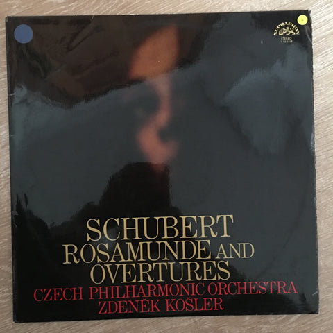 Schubert / Czech Philharmonic Orchestra / Zdeněk Košler ‎– Rosamunde And Overtures - Vinyl LP Record - Opened  - Very-Good Quality (VG)