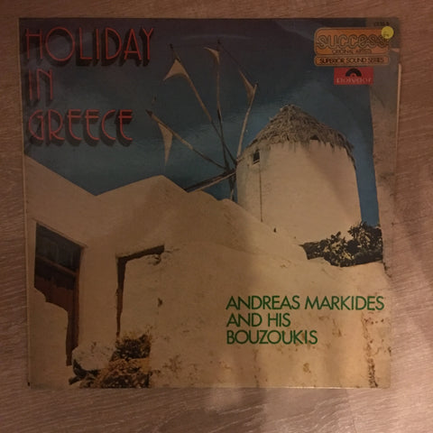 Andreas Markides and His Bazoukas - Holiday In Greece - Vinyl LP Record - Opened  - Good+ Quality (G+)