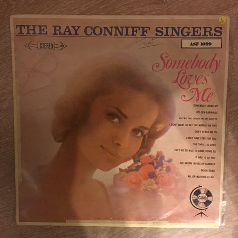 The Ray Conniff Singers - Somebody Loves Me - Vinyl LP Record - Opened  - Very-Good Quality (VG)