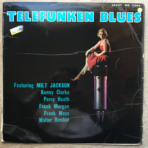 Kenny Clarke ‎– Telefunken Blues - Vinyl LP Record - Opened  - Very-Good- Quality (VG-) - C-Plan Audio