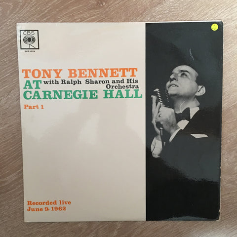 Tony Bennet At Carnegie Hall - Part 1 -  Vinyl LP Record - Opened  - Very-Good Quality (VG) - C-Plan Audio