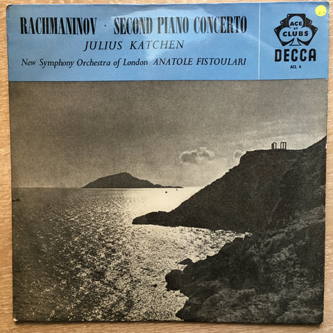 Rachmaninov - Julius Katchen, New Symphony Orchestra Of London, Anatole Fistoulari ‎– Second Piano Concerto – Vinyl LP Record - Opened  - Very-Good+ Quality (VG+)