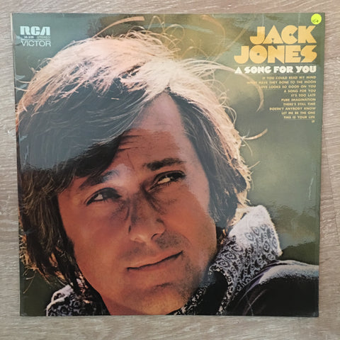 Jack Jones - A Song For You - Vinyl LP Record - Opened  - Very-Good+ Quality (VG+)