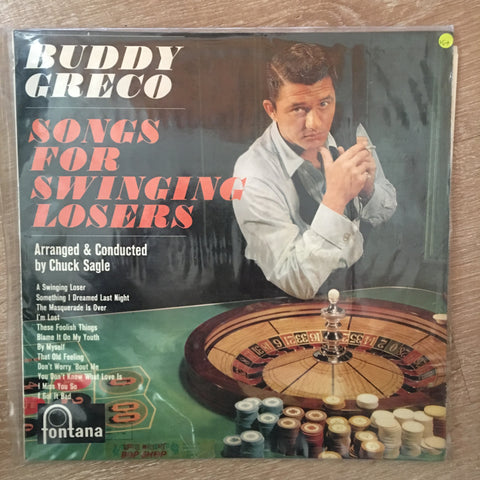 Buddy Greco - Songs For Singing Losers - Vinyl LP Record - Opened  - Very-Good+ Quality (VG+)