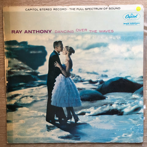Ray Anthony And His Orchestra ‎– Dancing Over The Waves – Vinyl LP Record - Opened  - Very-Good+ Quality (VG+)