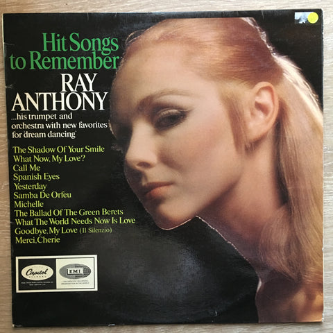 Ray Anthony - Hit Songs To Remember - Vinyl LP Record - Opened  - Very-Good Quality (VG)
