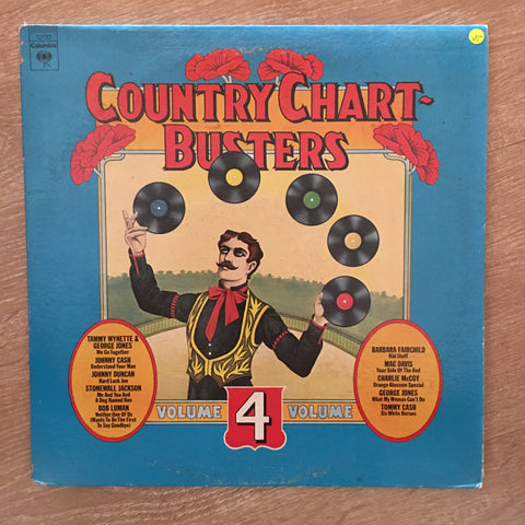 Country Chart Busters Vol 4 - Vinyl LP Record - Opened  - Very-Good- Quality (VG-)