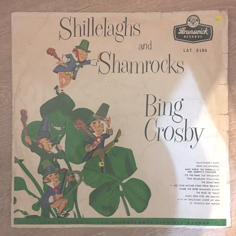 Bing Crosby ‎– Shillelaghs And Shamrocks  - Vinyl LP Record - Opened  - Very-Good- Quality (VG-) - C-Plan Audio
