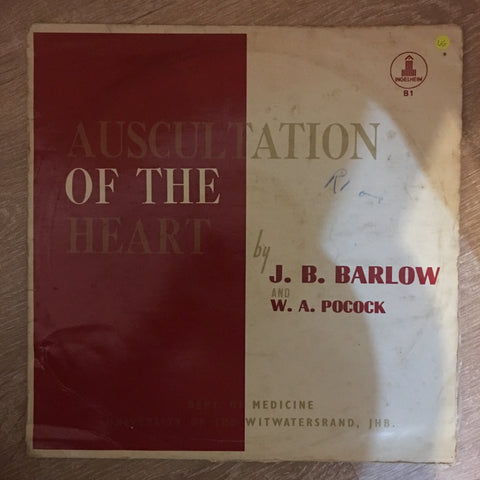 J. B. Barlow & W. A. Pocock ‎– Auscultation Of The Heart - Vinyl LP Record - Opened  - Very-Good Quality (VG) - C-Plan Audio