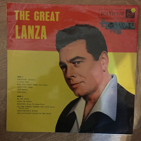 Mario Lanza - The Great Lanza - Vinyl LP Record - Opened  - Very-Good Quality (VG) - C-Plan Audio