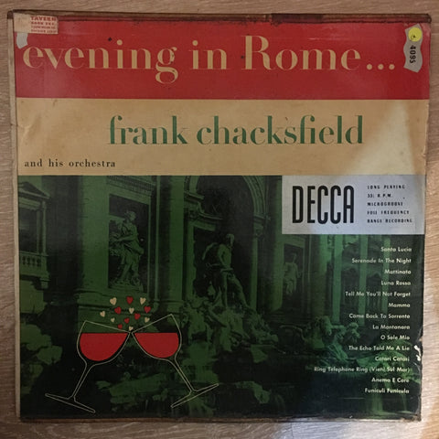 Frank Chacksfield - Evening In Rome - Vinyl LP Record - Opened  - Good Quality (G) - C-Plan Audio