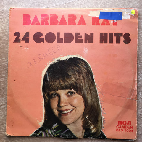 Barbara Ray 24 Golden Hits - Vinyl LP Record - Opened  - Fair Quality (F) - C-Plan Audio