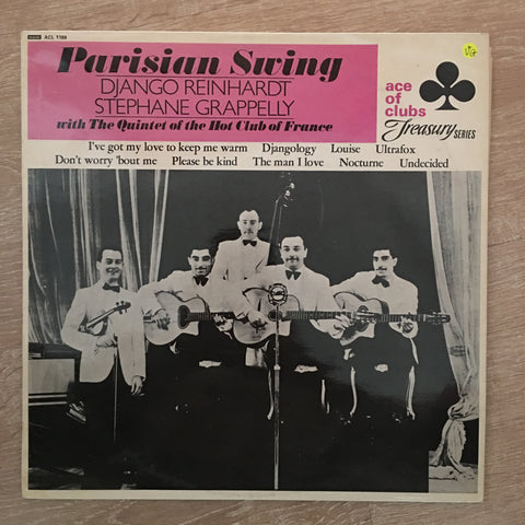 Django Reinhardt, Stephane Grappelly With Quintet Of The Hot Club Of France – Parisian Swing - Vinyl LP Record - Opened  - Very-Good Quality (VG)