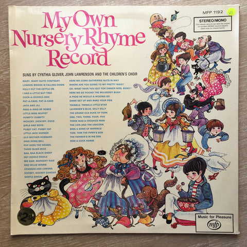 My Own Nursery Rhyme Record - Vinyl LP Record - Opened  - Very-Good Quality (VG)