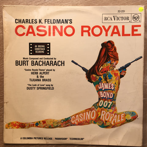 Burt Bacharach ‎– Casino Royale (Original Motion Picture Soundtrack)  – Vinyl LP Record - Opened  - Very-Good+ Quality (VG+)