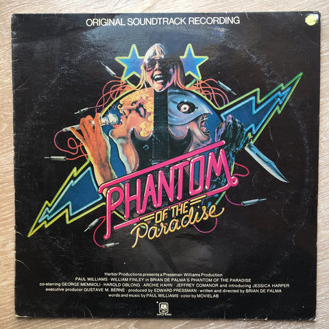 Phantom Of The Paradise - Original Soundtrack Recording – Vinyl LP Record - Opened  - Very-Good+ Quality (VG+)