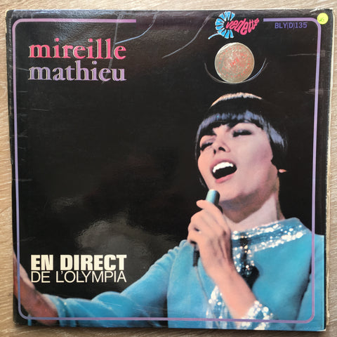Mireille Mathieu - En Direct De L'Olympia  -  Vinyl LP Record - Opened  - Very-Good Quality (VG)