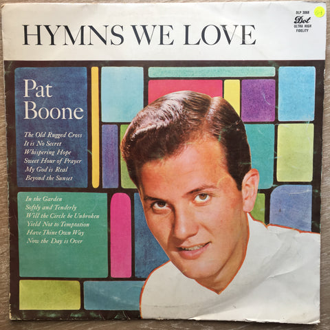 Pat Boone ‎– Hymns We Love – Vinyl LP Record - Opened  - Good+ Quality (G+)